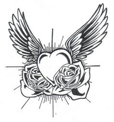 Classic Heart With Wings Tattoo Tattoo Design