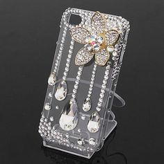 Alloy Lotus Rhinestone DIY Phone Case Deco Den Kit & Free Phone Case