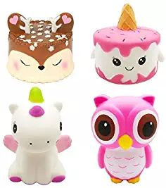AOLIGE Jumbo Squishy Kawaii Cute Owl Cream Scented Squishies Slow Rising Decompression Squeeze Toys for Kids or Stress Relief Toy Hop Props Decorative Props Large