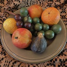 The start of my newest collection Fruit Love, Mixed Fruit, Antique Clocks, Antique Decor, Colonial Decorating, Decorating Ideas, Fruits And Vegetables, Veggies, Keeping Room