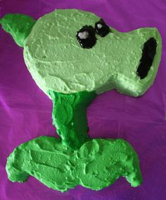 Pea Shooter Cake from Plants vs Zombies