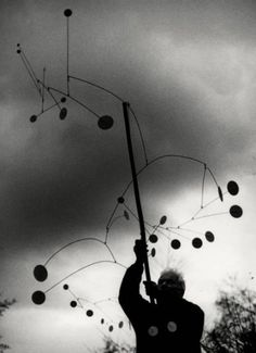 Ugo Mulas - Alexander Calder with Snow Flurry, 1963