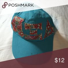 Alpha Xi Delta Ball Cap One size. Vera Bradley print. Small stain on rim of hat. Accessories Hats