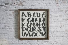 Alphabet Wood Sign. Rustic Nursery Decor. by WilliamRaeDesigns