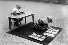 cylinder blocks  and metal insets montessori school september, 1919