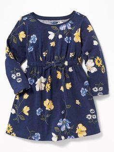 Old Navy Babies' Waist-Defined Floral Dress Navy Floral Regular Size M Baby Frocks Designs, Kids Frocks Design, Frocks For Girls, Dresses Kids Girl, Baby Girl Dress Patterns, Baby Dress, Cute Little Girls Outfits, Kids Outfits, Kids Dress Wear