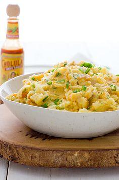 Cheddar and Cholula Mashed Potatoes
