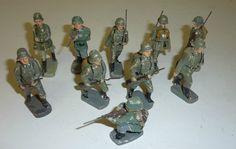 J.K. Sch. Konvolut 10 Massefiguren Soldaten 7 cm Serie | eBay