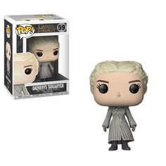 From Game of Thrones, Daenerys (White Coat), as a stylized POP vinyl from Funko! Figure stands 3 inches and comes in a window display box. Check out the other Game of Thrones figures from Funko! Game Of Thrones Figures, Funko Game Of Thrones, Game Of Thrones Facts, Pop Game Of Thrones, Game Of Thrones Quotes, Game Of Thrones Funny, Pop Vinyl Figures, Daenerys Targaryen, Khaleesi