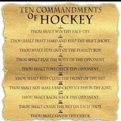 Hockey Commandments B Penguins Flyers Hockey, Hockey Memes, Hockey Quotes, Blackhawks Hockey, Hockey Players, Funny Hockey, Chicago Blackhawks, Goalie Quotes, Quotes Girlfriend