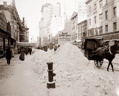 New York in the snow, 1905