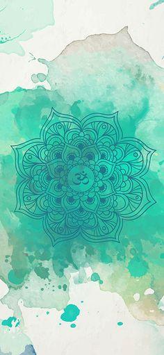 ૐ OM ૐ Green mandala