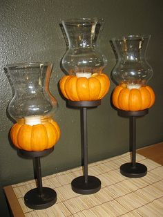 Thanksgiving Decor. DIY candle holders