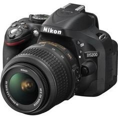 Nikon D5200 Digital SLR Camera & 18-55mm G VR DX AF-S Lens (Black) - Factory Refurbished includes Full 1 Year Warranty