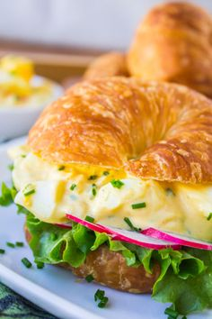CLASSIC EGG SALAD SANDWICH – Nothing beats a lunchtime sandwich staple on a buttery croissant, right? Click for the full recipe and for more