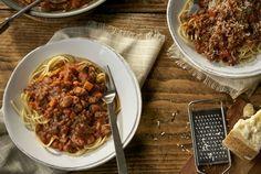 Mushroom and Beef Spaghetti Bolognese