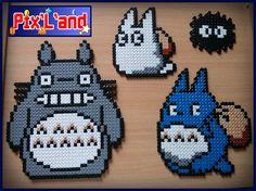 Thème Totoro en perle Hama MiDi : Autres pièces pour créations par pix-l-and