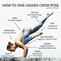 All the steps to fly your crow with one leg!    @dcmlifestyle  #YogaPhotography