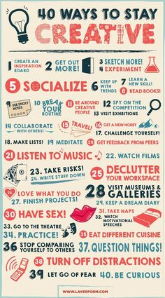 40 Ways to Stay Creative www.desket.co