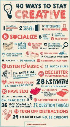 40 Ways to Stay Creative www.desket.co