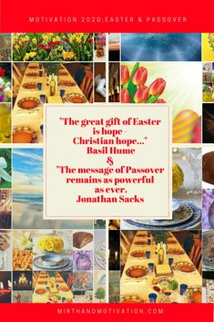 Motivation 2020: Easter & Passover | Mirth and Motivation #easter #passover