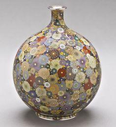 "Hayashi Kodenji, ""Cloisonné Vase with Chrysanthemum Design"", c.1900."