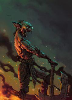 Evil Goblin by caiomm.deviantart.com on @deviantART