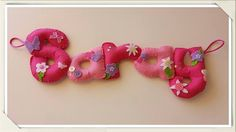 Gifts for babies with your name. Gifts for baby shower. Gifts for pregnant . - Gifts for babies with your name. Gifts for baby shower. Gifts for pregnant … – Gifts for babie - Felt Name Banner, Name Banners, Babyshower, Gifts For Pregnant Women, Pink Names, Baby Girl Nursery Decor, Name Gifts, Pretty In Pink, Baby Shower Gifts