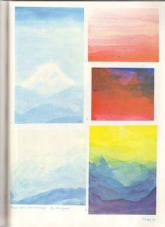 Tafel 74: Schichtübungen 04 mit                           Aquarellfarben (8. Schuljahr)