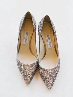 Sparkly wedding shoes - Jimmy Choo heels for bride {Michel B. Events}
