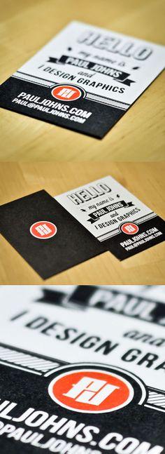 Unique business card for a graphic designer. Graphic design business card inspiration for print.
