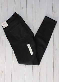 f3a81e2cca6 NWT Womens Juniors stretch HOLLISTER low-rise super skinny jeans 5S 27   fashion