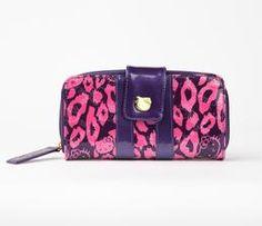 Hello Kitty Embossed Long Wallet: Bold Leopard