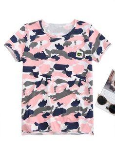 #Zaful - #Zaful Pentagram Camo T Shirt - AdoreWe.com