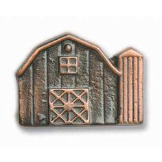 Antique Copper Barn Knob Buck Snort Lodge Products Knob Theme & Motif Cabinet Hardware & K