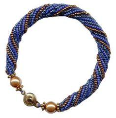 Herringbone Helix Beaded Bracelet Pattern at Sova-Enterprises.com Beading Patterns Free, Beaded Bracelet Patterns, Bead Patterns, Beading Ideas, Craft Patterns, Wire Jewelry, Beaded Jewelry, Jewelry Bracelets, Beaded Necklaces