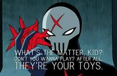 Red X from Teen Titans. Yep. 1,000 times more badass than Robin.
