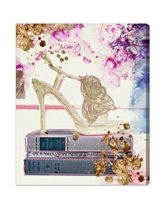Oliver Gal Gold Shoe Canvas Art