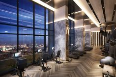 So erstellen Sie das perfekte Heim-Fitnessstudio - Home Gym Ideen Keller - Luxury Gym, Modern Luxury, Luxury Homes, Home Gym Design, House Design, Design Art, Hotel Gym, Gym Interior, Gym Room
