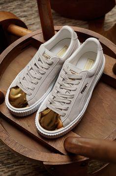 5de34409d6c Puma suede creeper white gold fenty rihanna sneaker toe new womens ...