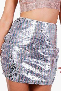 Nolita Mermaid Sequin Mini Skirt