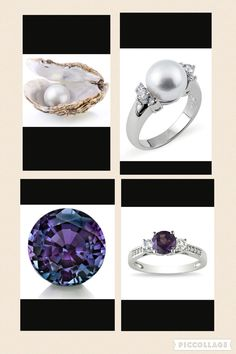 June's birthstones are the Pearl and Alexandrite.