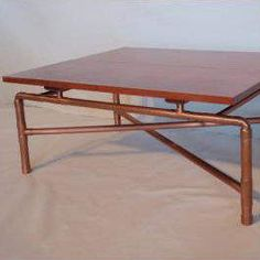 Dining Table With Copper Pipe Legs Fancy Furniture Pinterest Pipes And Tables