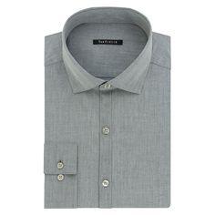 Men's Van Heusen Fresh Defense Slim-Fit Dress Shirt, Size: 17-34/35, Grey Other