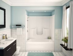 Fresco of Bathroom Tub Shower