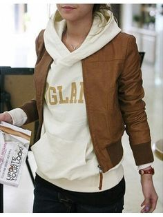 Faux Leather Jacket. I don't usually like leather but this is cute!
