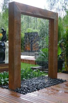 Giant copper rain shower