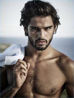 Leading model Marlon Teixeira stars in the Jimmy Choo Man Ice fragrance campaign.