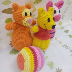 Crochet Bowling toy pooh collectionstuffed baby by EarnCrochet