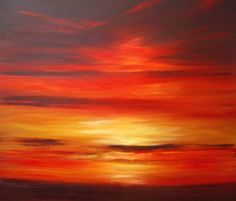 Abstract Sunset Painting by Sunset Paintings Artist Wendy-Puerto